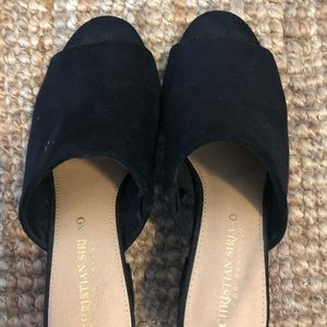 Black slip on mules -Christian Soriano for Payless